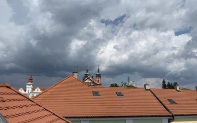 Mariánský kostel z podkroví bytu